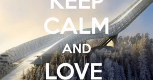 Keep calm and love ski jumping
