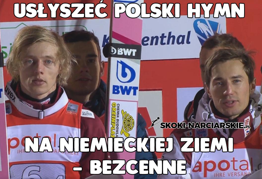 Usłyszeć polski hymn na niemieckiej ziemi - bezcenne! Idealne podsumowanie drużynowego konkursu Pucharu Świata w Klingenthal!