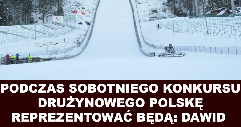 Skład kadry Polski na konkurs drużynowy PŚ w Zakopanem