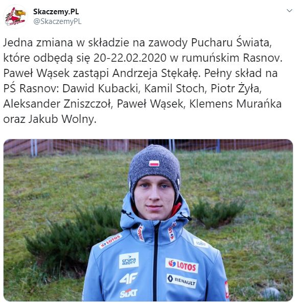Kadra Polski na PŚ w Rasnovie
