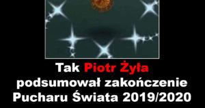 Tak Piotr Żyła podsumował zakończenie Pucharu Świata