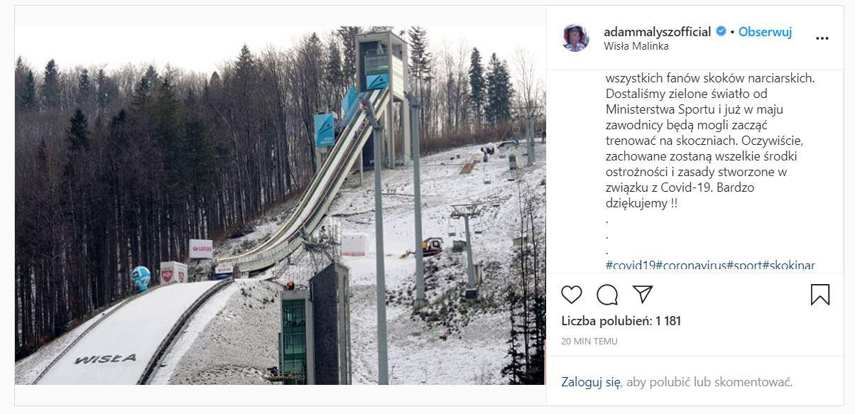 Adam Małysz podał termin powrotu polskich zawodników do skakania!