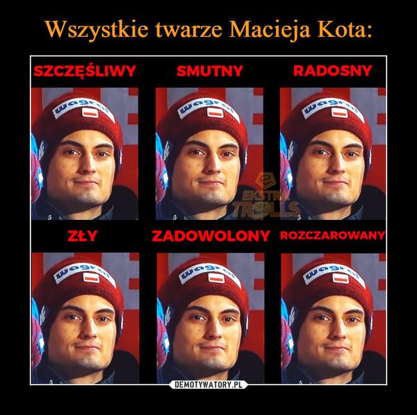 Wszystkie twarze Macieja Kota