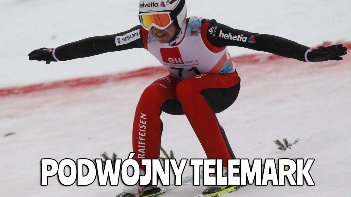Memy o Simonie Ammannie - podwójny telemark