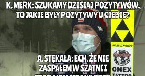 Andrzej Stękała cieszy się, że nie zaspał