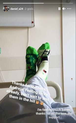 Daniel Andre Tande opublikował zdjęcie ze szpitala