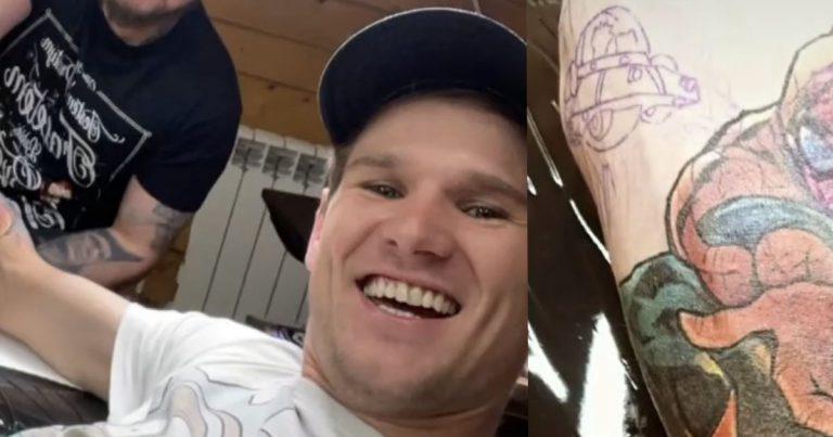 Nowy tatuaż Andrzeja Stękały